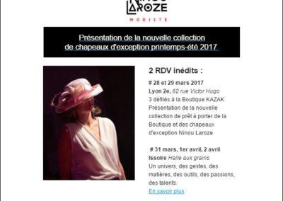 E-mailing Ninou Laroze
