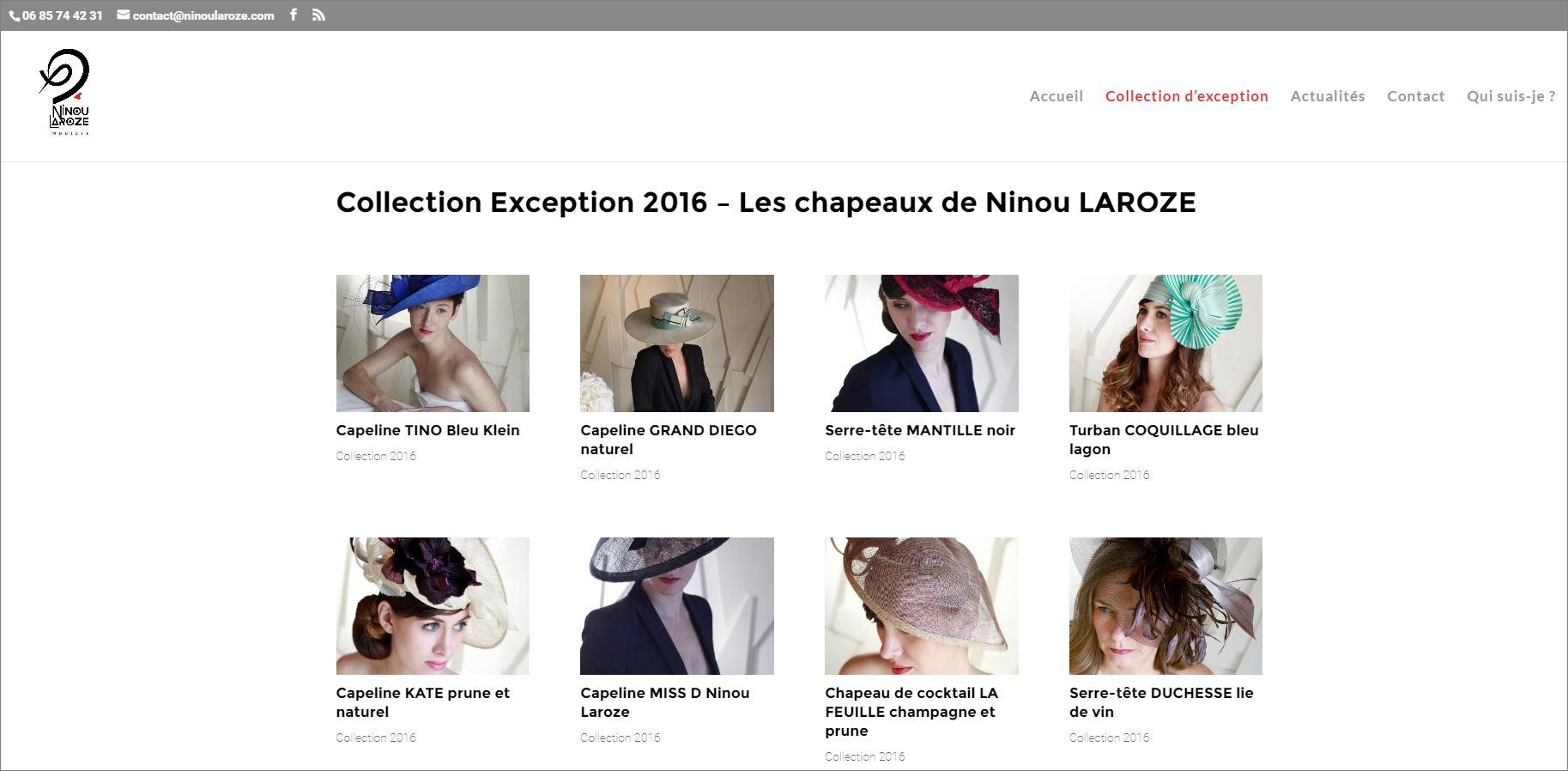 Création du site Ninou Laroze